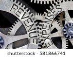 macro photo of tooth wheel... | Shutterstock . vector #581866741