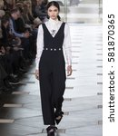 Small photo of NEW YORK, NY - FEBRUARY 14, 2017: Aira Ferreira walks the runway at the Tory Burch Fall Winter 2017 fashion show during New York Fashion Week at the Whitney Museum of American Art