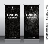roll up brochure flyer banner... | Shutterstock .eps vector #581872741