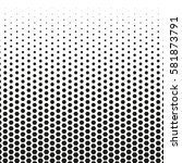grunge halftone background.... | Shutterstock .eps vector #581873791