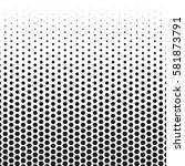 grunge halftone background.... | Shutterstock .eps vector #581873791