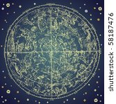vintage zodiac constellation of ... | Shutterstock .eps vector #58187476