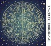 vintage zodiac constellation of ... | Shutterstock .eps vector #58187476