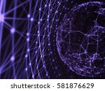 abstract technology network... | Shutterstock . vector #581876629