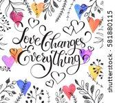 inspiring lettering black on... | Shutterstock . vector #581880115