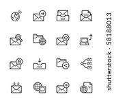 network and communication icons ... | Shutterstock .eps vector #58188013