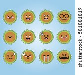 smile emoji emoticon face in... | Shutterstock .eps vector #581881819