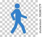 walking man vector pictograph.... | Shutterstock .eps vector #581887279