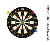 classic dart board target and...   Shutterstock .eps vector #581889331