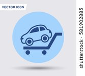 pictograph of car | Shutterstock .eps vector #581902885