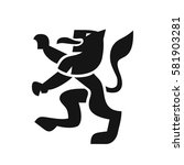 heraldic lion in a modern style ... | Shutterstock .eps vector #581903281
