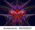 texture. abstract magic energy... | Shutterstock . vector #581905819