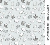seamless vector doodle pattern... | Shutterstock .eps vector #581906395