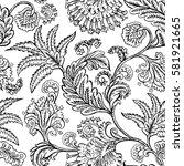 seamless pattern with fantasy... | Shutterstock .eps vector #581921665