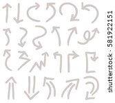 hand drawn arrows in black. ... | Shutterstock .eps vector #581922151