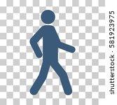 walking man vector pictograph.... | Shutterstock .eps vector #581923975