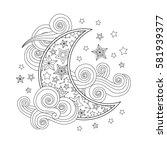 Contour Image Of Moon Crescent...