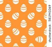 seamless easter pattern.... | Shutterstock .eps vector #581941069