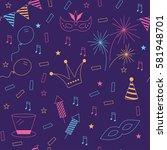 celebration festive seamless... | Shutterstock .eps vector #581948701