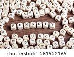 penalty  word in letters on... | Shutterstock . vector #581952169