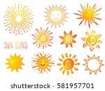 suns. elements for design | Shutterstock .eps vector #581957701
