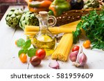 clean eating concept  healthy... | Shutterstock . vector #581959609