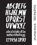 graphic font for your design.... | Shutterstock .eps vector #581965951