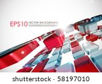 abstract vector background. | Shutterstock .eps vector #58197010