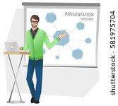 business man making a... | Shutterstock .eps vector #581975704