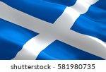 scotland flag. waving colorful... | Shutterstock . vector #581980735