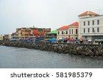 roseau  dominica   circa 2008 ... | Shutterstock . vector #581985379