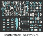 vector illustration with design ... | Shutterstock .eps vector #581993971