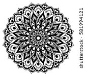 mandalas for coloring book.... | Shutterstock .eps vector #581994121