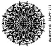 mandalas for coloring book.... | Shutterstock .eps vector #581994145