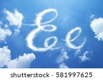 e clouds font calligraphy style ...   Shutterstock . vector #581997625