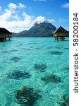 bora bora and otemanu mt.   Shutterstock . vector #58200184