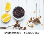 Herbal Tea Leaves With Dried...