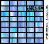 blue sky gold gradient... | Shutterstock .eps vector #582003289