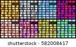 gradient big collection gold ... | Shutterstock .eps vector #582008617