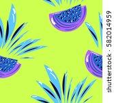 exotic fruit seamless pattern | Shutterstock .eps vector #582014959