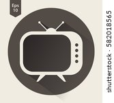 old tv flat icon. simple symbol ... | Shutterstock .eps vector #582018565
