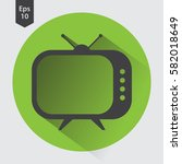 old tv flat icon. simple symbol ... | Shutterstock .eps vector #582018649