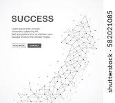 wireframe mesh broken polygonal ... | Shutterstock .eps vector #582021085