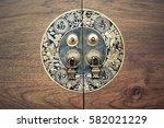 chinese door knob with handle   Shutterstock . vector #582021229