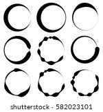 set of 9 circle with irregular...