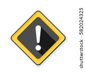 exclamation danger sign... | Shutterstock . vector #582024325