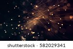 glowing particles and lines... | Shutterstock . vector #582029341