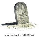 Gravestone On The White...