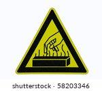 warning heat sign   Shutterstock . vector #58203346