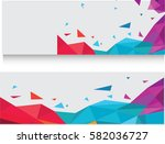 abstract geometric square... | Shutterstock .eps vector #582036727